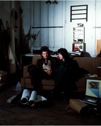 galerie-ahlers-albert-schoepflin-01-Robert-Mapplethorpe-and-Patti-Smith-in-his-Atelier