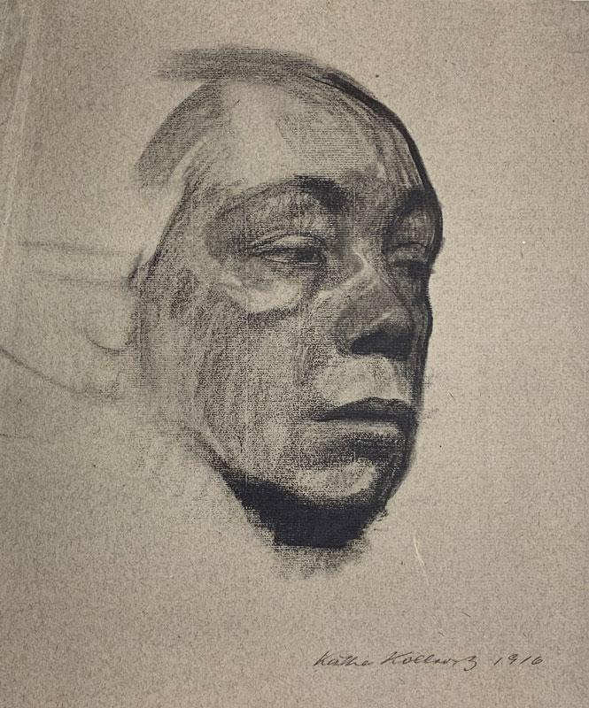 galerie-ahlers-kaethe-kollwitz-blatt-nummer1-selbstbildnis-1920-36x30,8