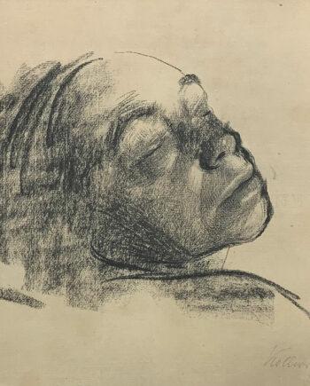 galerie-ahlers-kaethe-kollwitz-blatt-nummer-10-abschied-kopfstudie-1920-34x43