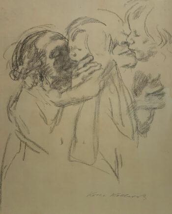 galerie-ahlers-kaethe-kollwitz-blatt-nummer-13-frau-kind-liebkosend-1920-51x45