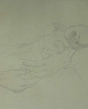 galerie-ahlers-kaethe-kollwitz-blatt-nummer-16-kleines-kind-im-arm-gehalten-1920-29,5x42