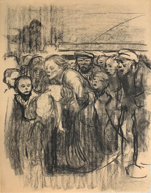 galerie-ahlers-kaethe-kollwitz-blatt-nummer-18-verungluecktes-kind-1920-59x45