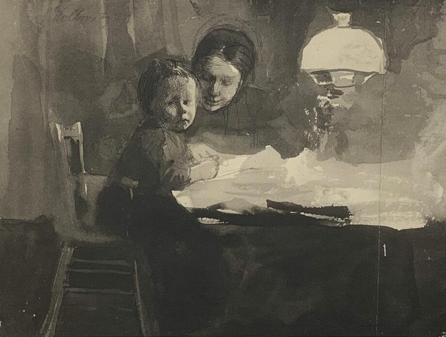 galerie-ahlers-kaethe-kollwitz-blatt-nummer-2-zeichnung-von-hans-kollwitz-1920-20,7x27,2