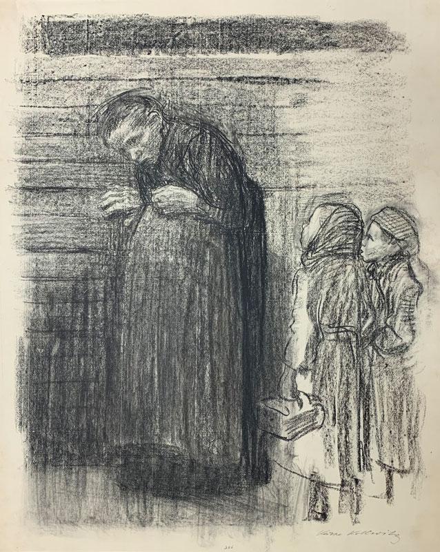 galerie-ahlers-kaethe-kollwitz-blatt-nummer-20-zeichnung-fuer-den-simplicissimus-1920-57x45