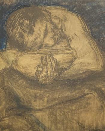galerie-ahlers-kaethe-kollwitz-blatt-nummer-22-farbzeichnung-zur-pieta-1920-45x55,5