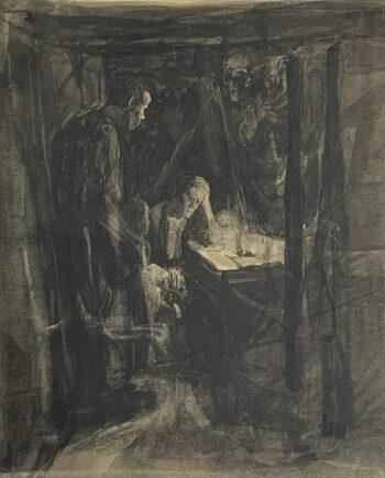 galerie-ahlers-kaethe-kollwitz-blatt-nummer-5-tod-die-Weber-1920-25,5x22