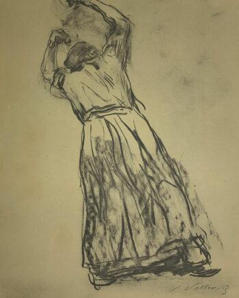 galerie-ahlers-kaethe-kollwitz-blatt-nummer-6-studie-zum-losbruch-bauernkrieg-1920-47x37,5