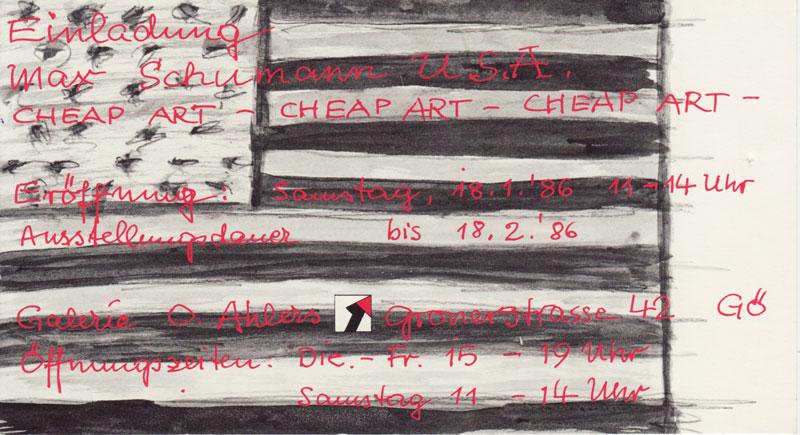 Max_Schumann_Cheap_Art_18.Januar bis_18.Februar_1986