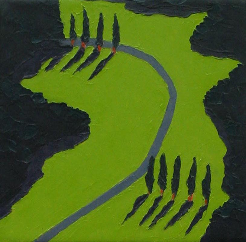 Wolfram-Scheffel-Kleine-Landschaft-(WS-4100)-2000-Öl-auf-Leinwand-25-x-25-cm-1.000-€