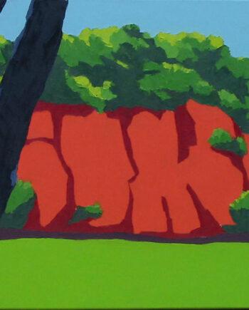 Wolfram-Scheffel-Roter-Fels-(WS-2205)-2005-Öl-auf-Leinwand-40-x-50-cm-2