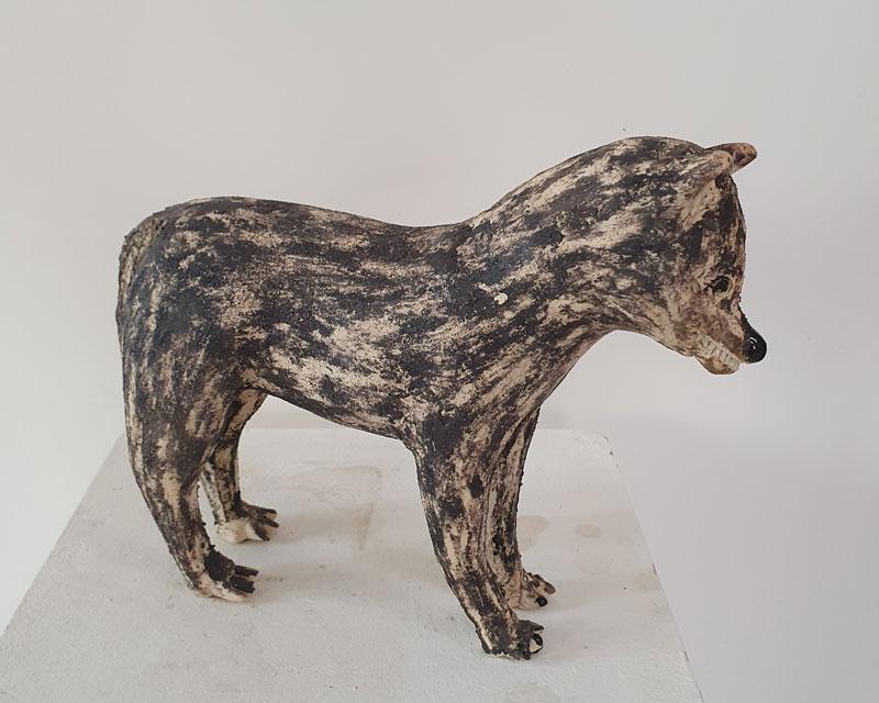 galerie-ahlers-rachel-kohn-kleiner-wolf-2021-steinzeug