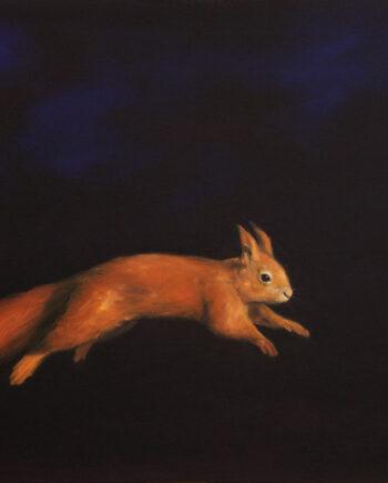 galerie-ahlers-sigrid-nienstedt-springendes-eichhörnchen-2012